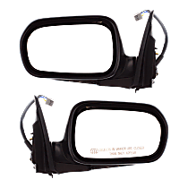 Power Mirror, Driver and Passenger Side, Manual Folding, Heated, Paintable