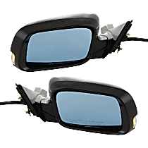 Mirror - Driver and Passenger Side (Pair), Power, Heated, Folding, Paintable, With Turn Signal, Memory, For Sedan