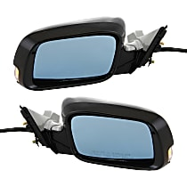 Kool Vue Power Mirror, Driver and Passenger Side, Manual Folding, Heated, w/ Memory and Signal, Paintable