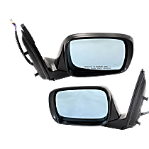 Power Mirror, Driver and Passenger Side, Manual Folding, Heated, w/ Memory and Signal, Paintable
