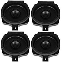 SET-AC25858090-4 Speaker - Black, Direct Fit, Set of 4