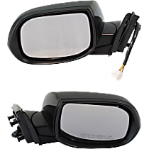 Kool Vue Power Mirror, Driver (w/o Memory) and Passenger Side (w/ Memory), Manual Folding, Heated, w/ Signal, Paintable