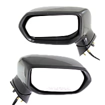 Driver and Passenger Side Heated Mirror - Power Glass, Manual Folding, With Memory, Paintable