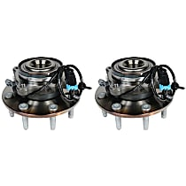 SET-ACFW338 Front, Driver and Passenger Side Wheel Hub With Ball Bearing - Set of 2