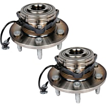 SET-ACFW346 Front, Driver and Passenger Side Wheel Hub With Bearing - Set of 2