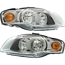 Driver and Passenger Side Halogen Headlight, With Bulb(s) - B7 Body Code, CAPA CERTIFIED
