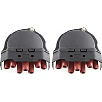 Distributor Cap - Black, Direct Fit, Set of 2