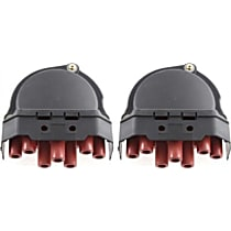 Replacement SET-ARBB314102-2 Distributor Cap - Black, Direct Fit, Set of 2