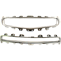 Upper and Center Grille Trim - Chrome