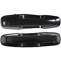 Front or Rear, Driver and Passenger Side Exterior Door Handle, Textured Black