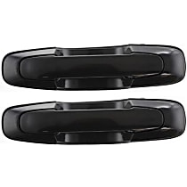 Front and Rear, Driver Side Exterior Door Handle, Textured Black