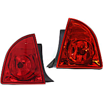 Driver and Passenger Side, Outer Tail Light, With bulb(s) - Red Lens, Hybrid/LS/LT Models