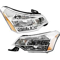 Driver and Passenger Side Headlight, With bulb(s) - Except SES Model, Coupe(08-08)/Sedan(08-11),
