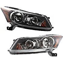 Driver and Passenger Side Headlight, With bulb(s), Sedan