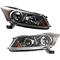 Driver and Passenger Side Headlight, With Bulb(s) - Sedan
