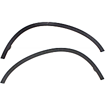 Front, Driver and Passenger Side Fender Trim, Black