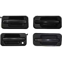 Front and Rear, Driver and Passenger Side Exterior Door Handle, Textured Black