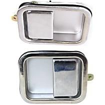 Front, Driver and Passenger Side Exterior Door Handle, Chrome, Full Door Type