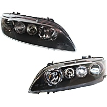Driver and Passenger Side Halogen Headlight, Without Bulb(s) - Sport Type