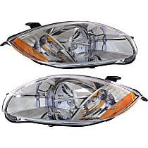 Driver and Passenger Side Halogen Headlight, With Bulb(s) - (Convertible To 01-07-07)/(Coupe/HB To 1-1-07), CAPA CERTIFIED
