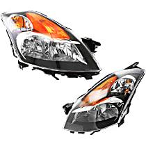 Driver and Passenger Side Halogen Headlight, With Bulb(s) - 07-09 Altima Gas/Hybrid Sedan Model