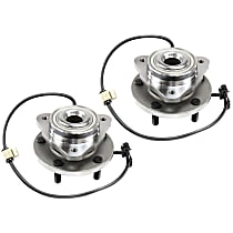 Front, Driver and Passenger Side Wheel Hub and Bearing Assembly, For 2WD or RWD