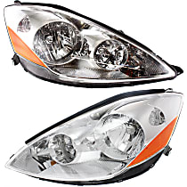 Driver and Passenger Side Halogen Headlights, With bulb(s) - 06-10 Sienna (CE/LE/XLE Model)