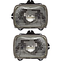 Headlights - Driver and Passenger Side, Pair, Sealed Beam, With Bulb(s)