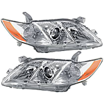 Driver and Passenger Side Headlights, Without bulb(s) - (Base/CE/LE/XLE Models), USA Built