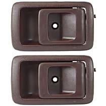 Front, Passenger Side Interior Door Handle, Brown
