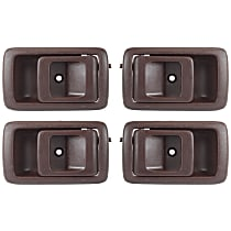 Front and Rear, Driver and Passenger Side Interior Door Handle, Brown