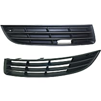 Fog Light Cover - Driver and Passenger Side, Outer, Lower, Without Fog Light Hole, Black