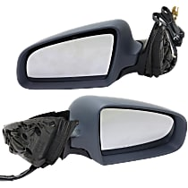 Driver and Passenger Side Heated Mirror - Power Glass, Power Folding, Without Signal Light, With Memory, Paintable