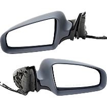 Power Mirror, Driver and Passenger Side, Manual Folding, Heated, w/o Memory, Paintable