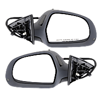 Mirror - Driver and Passenger Side (Pair), Power, Heated, Power Folding, Paintable, With Turn Signal and Memory