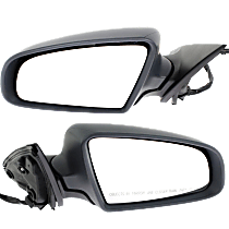 Driver and Passenger Side Heated Mirror - Power Glass, Power Folding, Without Signal Light, With memory, Light textured