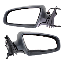 Driver and Passenger Side Heated Mirror - Power Glass, Manual Folding, Without Signal Light, Without memory, Light textured