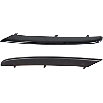 Front, Driver and Passenger Side Bumper Trim, Black