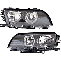 Driver and Passenger Side Halogen Headlight, With Bulb(s) - Sedan/Wagon Models