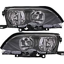 Driver and Passenger Side Halogen Headlight, With bulb(s - Sedan/Wagon