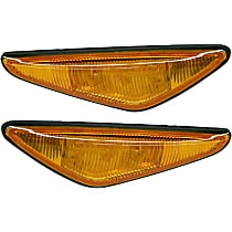 Front, Driver and Passenger Side Side Marker, With bulb(s)
