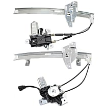Window Regulator - Front and Rear, Passenger Side, Power with Motor
