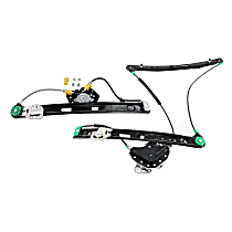 Front and Rear, Passenger Side Power Window Regulator, Without Motor - Sedan