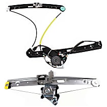 Front, Driver and Passenger Side Power Window Regulator, With Motor, Sedan/Wagon, Fits: BMW E46