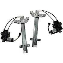 Window Regulator - Rear, Driver and Passenger Side, Power with Motor