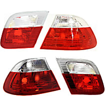 Driver and Passenger Side, Inner and Outer Tail Light, Without bulb(s)
