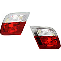 Driver and Passenger Side, Inner Tail Light, Without bulb(s) - Clear & Red Lens, Conv/Coupe, To 3-03