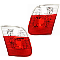 Driver and Passenger Side, Inner Tail Light, w/o bulb(s) - E46 Sedan, With Prod. Date: From 9/2001, White Indicator Lights (Code S785A)