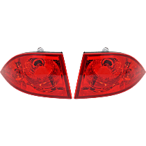 Driver and Passenger Side, Outer Tail Light, With bulb(s) - Red Lens