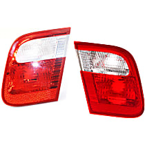 Driver and Passenger Side, Inner Tail Light, Without bulb(s) - E46 Sedan, With Production Date Up to 09/2001